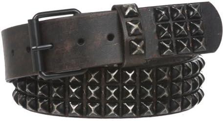 beltiscool Cintur/ón de piel con tachuelas de c/írculo retro vintage hebilla intercambiable