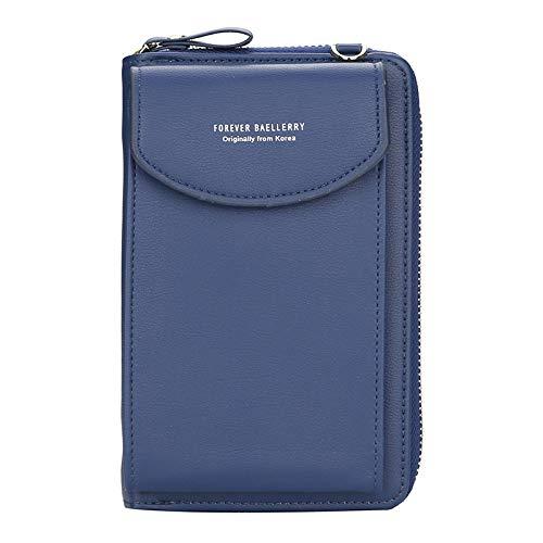 RWXCOW Handy Tasche/Handytasche Zum UmhäNgen/Handytasche Mit GeldböRse Zum UmhäNgen Damen Modische Handy Tasche 12 Farben dunkelblau