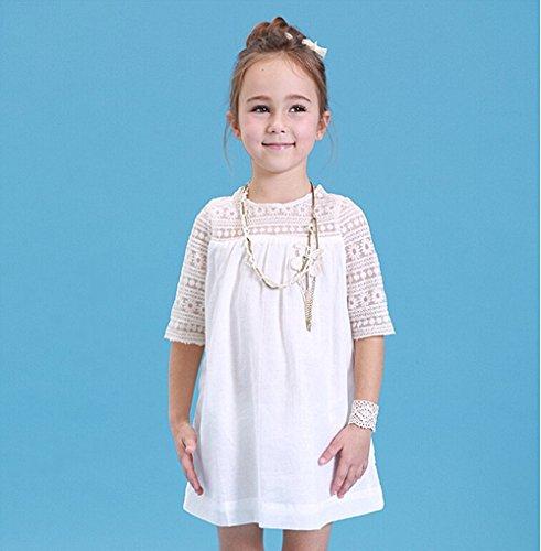 Vêtements de Filles, Morbuy Filles Enfants Jupe Robe Princesse Robes De Fête Mode Filles Pour Fête Mariage Pageant (110, Blanc)