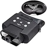 Hike Crew Night Vision Binoculars, Digital Infrared Night Goggles for Hunting, Built-in Camera Lets You Capture Photos & Record Videos, 400m of Viewing Distance, Large LCD Screen, 2X Magnification