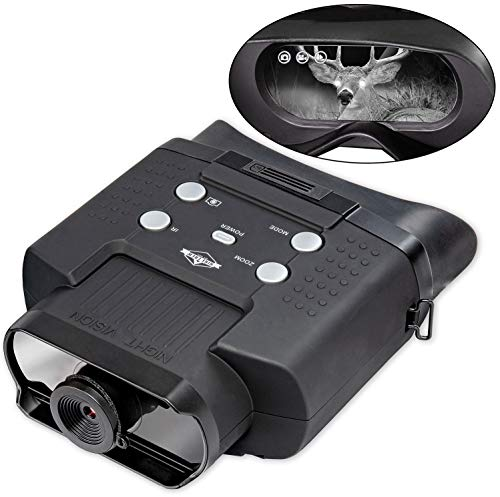 400m of Viewing Distance Digital Infrared Night Goggles for Hunting 2X Magnification 7 Levels of Brightness for 100/% Darkness Large LCD Screen Hike Crew Night Vision Binoculars