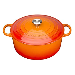 Le Creuset, Cocotte Signature en Fonte Émaillée avec Couvercle, Ø 24 cm, Ronde, Compatible avec Toutes Sources de Chaleur (Induction Incluse), Capacité : 4.2 L, 4.305 kg, Volcanique (B00VA5H8AY) | Amazon price tracker / tracking, Amazon price history charts, Amazon price watches, Amazon price drop alerts
