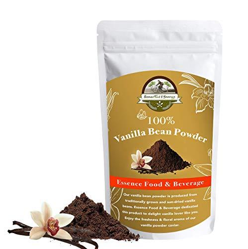 Essence Food & Beverage Vanilla Bean Powder - (2.5Oz) Vanilla Powder For Baking, Pure Vanilla Bean Powder, Ground Vanilla Beans, Raw & Unsweetened