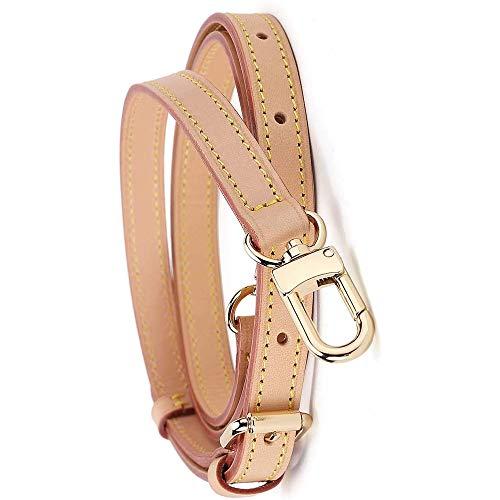 Vachetta Leather Adjustable Crossbody Strap for Strap Leather Speedy 25 30 Adjustable Purses Replacement Purse Straps lv Purse Straps Replacement-(41-50 inches)-Apricot-0.6 inch Width