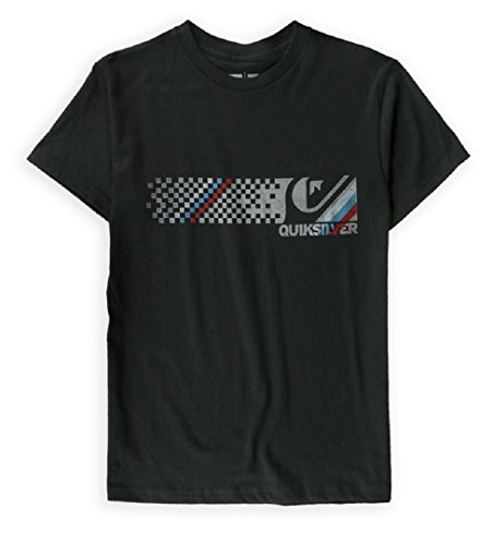 Quiksilver Mens Word Up Graphic T-Shirt Blk S