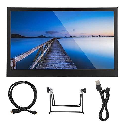 Worii Monitor LCD, Pantalla, 15,6 Pulgadas más Claro 1920x1080 Ultrafino para Equipos industriales de Juegos