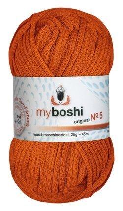 Myboshi Nr. 5, alle Farben, 3x Wolle kaufen = 1 Label gratis (531 orange)