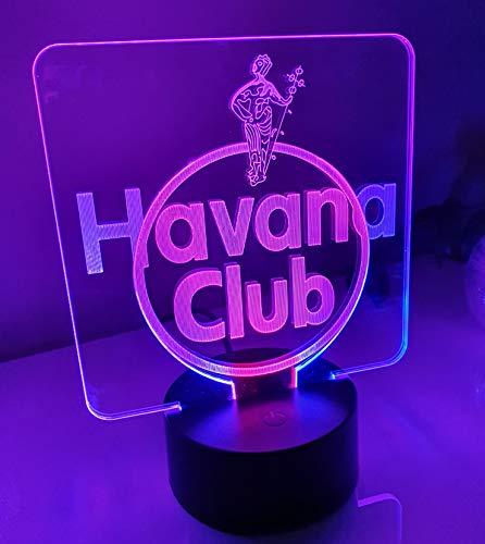 Havana Club Rum Led Tischlampe in 2 Leuchtfarben Neonschild Schild 3D Neon NFL Cuba Schnelle Lieferung