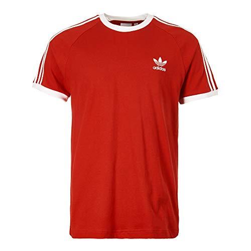 adidas Herren 3-Streifen T-Shirt, Power Red, S