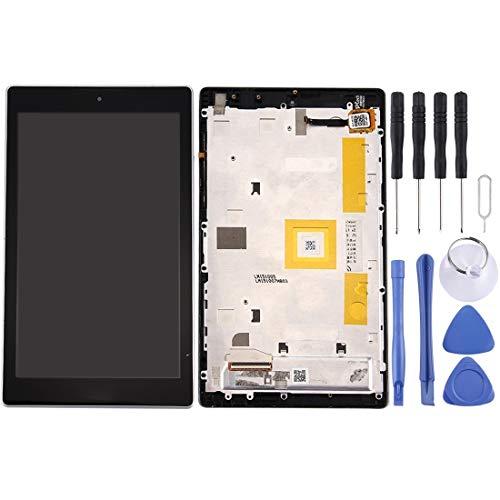 un known Reemplazo Herramientas de experimentos de Prueba Pantalla LCD y Montaje Completo de digitalizador con Marco para ASUS ZENPAD C 7.0 / Z170MG Accesorio (Color : Black)