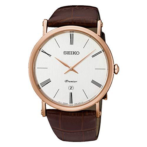 Seiko Reloj Analógico para Hombre de Cuarzo con Correa en Cuero SKP398P1