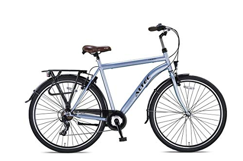 28 Zoll Herren Trekking City Fahrrad Citybike Cityrad Trekkingfahrrad Trekkingrad Herrenfahrrad Cityfahrrad Herrenrad Rad Bike Beleuchtung STVO ALTEC 7 Shimano Gang TRAVEL Matt GRAU R. 50cm