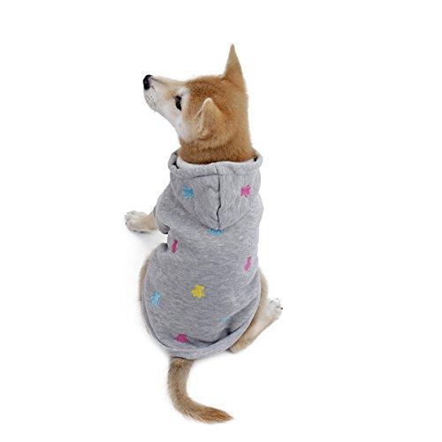 PAWZ Straßen-Hundehoodie-Katzen-Kleid-niedlicher Ball-Bärn-Entwurfs-Vlies-Gewebe Grau XS