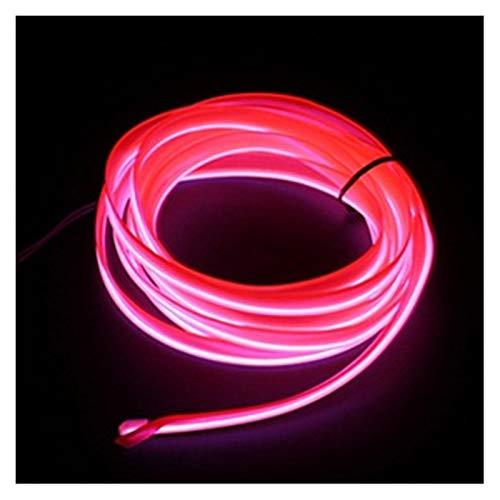 MUZIWENJU 1m / 2m / 3m / 5m Neon L e D Car Interieur Beleuchtungsstreifen Auto L e D Streifen Girlande EL Draht Seil Auto Dekoration Lampe Flexible Tube (Farbe : 1M USB Drive, Größe : Rosa)