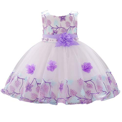 1 Year Old Purple Vintage African Summer Formal Dresses for Girls 6-12 Months 9M Easter Christmas Floral A Line Baby Girl Toddler Dress 12M Lilac Lavender