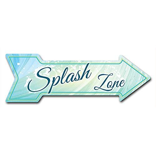"SignMission Decal Art Splash Zone Decal Indoor/Outdoor Decor 24"" Directional Sticker Vinyl Wall Decals"