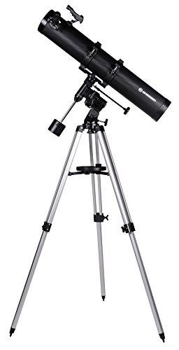 Bresser Spiegelteleskop Galaxia EQ-Sky 114/900 mit Smartphone Kamera Adapter und hochwertigem Objektiv-Sonnenfilter, inklusive Montierung, Stativ und Zubehör