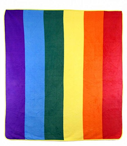 MWS Rainbow Gay Pride Lesbian Bisexual Genderqueer Queer LGBTQ Transgender 50x60 Polar Fleece Blanket Throw