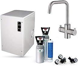 Sprudelux Power Soda Système d'eau potable sous table sans filtre avec robinet 5 voies CUCINA ESTETICA en acier inoxydable...