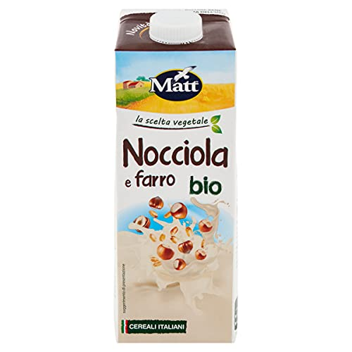 Matt - Bevanda Vegetale Nocciola e Farro Bio - Senza Lattosio e Senza Zuccheri Aggiunti - 1l