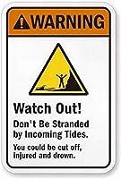 気を付けて! -入って来る安全標識のすずめにならないでくださいスズの金属標識道路の通告の標識屋外の装飾注意標識