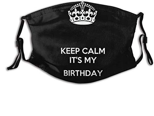 Happy Birthday to Me Mask Balaclavas Washable Masks with 2Pcs Filters.-Birthday 1-One Size