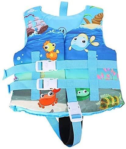 Bambini Nuotare Gilet Galleggiante Giacca, Bambino Nuoto Formazione Galleggiabilità del Costume da Assist Costumi da Bagno per 40-88 Libbre Bambino Bambini Blue