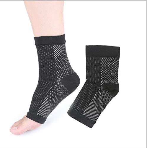 3 Paar Kompressionsstrümpfe für Männer & Frauen, kupfergetränkte magnetische Fußstützsocken -Compression Fußhülsenstütze Brace Socke gegen Plantarfasziitis Achilles Knöchel. (L-XL, schwarz)