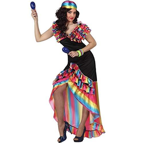 Atosa Disfraz de Rumbera Multicolor para Mujer XL