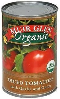 MUIR GLEN TOMATO DICED GRLC ONION, 14.5 OZ