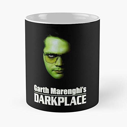 KiwLa Darkplace Garth Marenghi Richard Boosh Comedy Noel Mighty Ayoade Crowd Berry Fielding Matt It Taza de café con Leche 11 oz