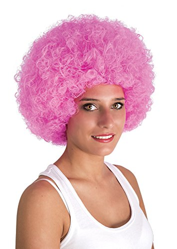 P 'tit Clown 64469 Mini schaar pruik Willy - Afro 28 X 25 roze