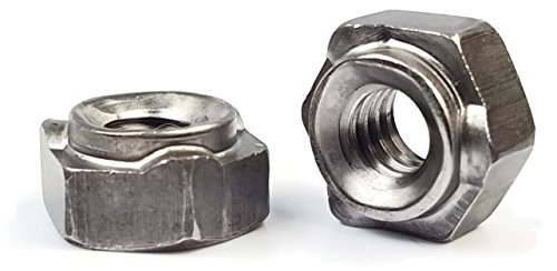 Hex Weld Nuts Steel Long Pilot 3 Projections - UNC Coarse Sizes - Qty 100 (3/8