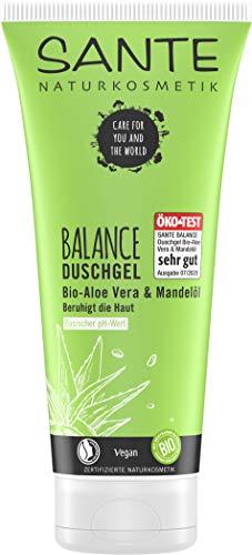 SANTE Naturkosmetik Balance Duschgel, für gesunde Säure-Basen der Haut, Vegan, mit Bio-Aloe und Mandelöl, 200ml