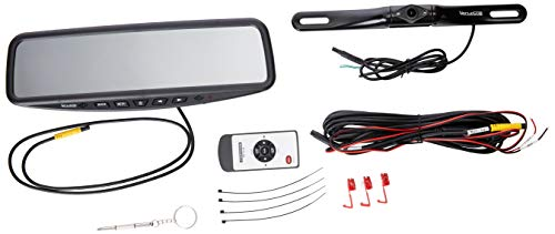 VECLESUS VT1 Backup Camera Kit System Car Licence Plate Backup Camera with 4.3'' Mirror Monitor, Night Vision Easy Installation Wired Rear View Camera for Car/Sedan/SUV/Pick Truck/Minivan
