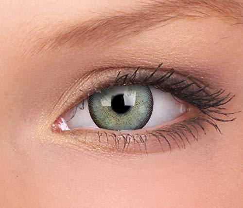 Farbige Kontaktlinse Lumina schillernde Minze 3 Monate Einweg 14 mm stärke 0.00 von ColourVUE entfernt (0.00, 8.6, 14.0, 2)