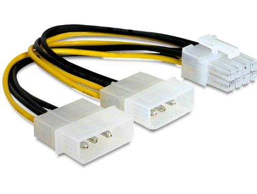"""Delock Kabel PCI Express Stromversorgung 8Pin > 2X 5¼"""" für Grafikkarten"""