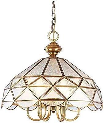E27 - Lámpara de cobre, Lámpara colgante de techo de vidrio ...