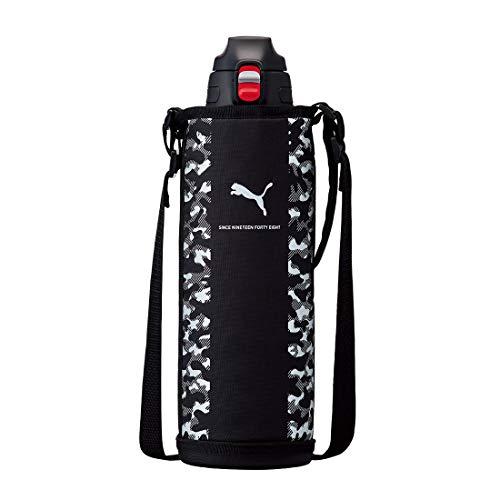 [プーマ] PUMA 水筒 ワンタッチ 1.5L 保冷 ステンレスボトル ショルダーベルト ポーチ付き 斜めがけ 直飲み 片手 スポーツ ブランド 男の子 かっこいい シンプル PM305 メンズ