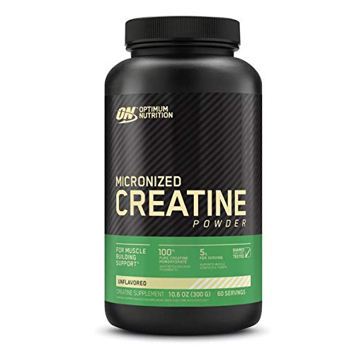 Optimum Nutrition Micronized Creatine Monohydrate Powder, Unflavored, Keto Friendly, 60 Servings (Packaging May Vary)