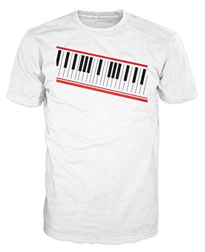 Dalesbury Digital Piano Keyboard Swag T-Shirt (wit)