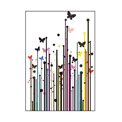 ZXLIFE@@ Nordische dekorative Malerei, Wandkunst-Bild mit Rahmen, Wanddeko Plakate, Malerei für Inneneinrichtungen, lichtecht und ohne Verformung, kann direkt aufgehängt Werden,60x80cm