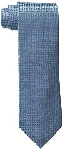Calvin Klein Men's HC Modern Gingham Tie, Aqua, Regular