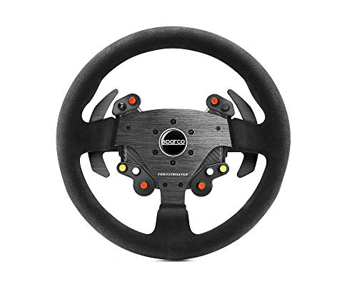 Thrustmaster TM Rally Wheel AddOn Sparco R383 Mod (Lenkrad AddOn33 cm Wildleder PS4 / PS3 / Xbox One / PC)