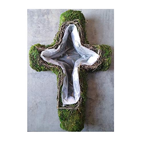 Radami Pflanzschale Grabgesteck Grabschmuck Kreuz Grab Gesteck zum Bepflanzen