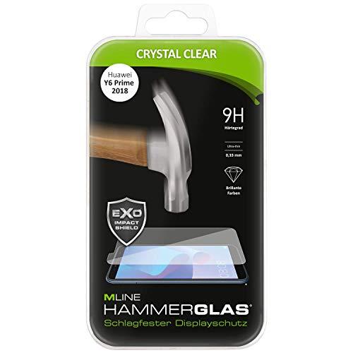 Preisvergleich Produktbild HAMMERGLAS - Displayschutz passend für das Huawei Y6 und Y6 Prime