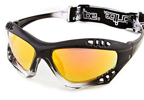 Jettribe Pro Goggles Black Fade Frame | Revo Lens + Storage Case PWC Surf Kite Anti-Fog