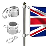 willkey 2X Flagpole Mounting Rings 360 Degree Rotating Heavy Duty Aluminum Alloy Spinning Flag Pole Kit with...