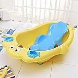 XUEPING PP Kunststoff Kinder Badewanne, Babybadewanne, Temperaturmessung mit Badregal verdicken großen Spielpool 92 * 43 * 25cm 3 Farben (Farbe : Gelb)