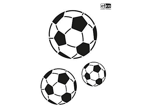 Schablone/Stencils Fussball DIN A4 von Efco - 3-teilig